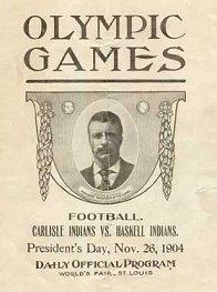 1904 Carlisle-Haskell game program cover