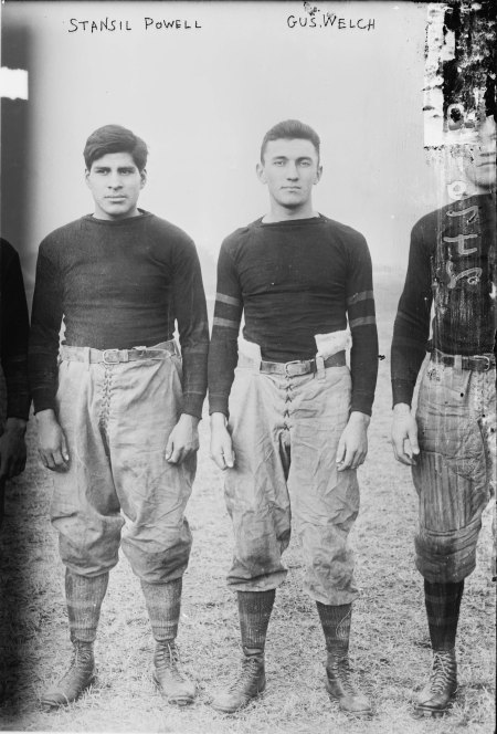 Gus Welch between Possum Powell and Jim Thorpe