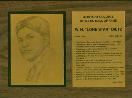 Albright College Hall of Fame Plaque