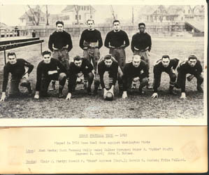 Brown's 1916 Rose Bowl team