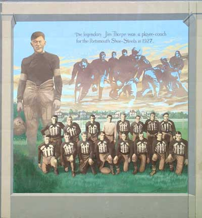 Jim Thorpe & Portsmouth Shoe-Steels mural