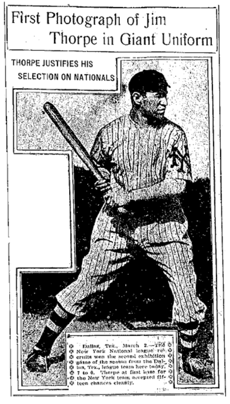 Thorpe in Giant uniform 1913
