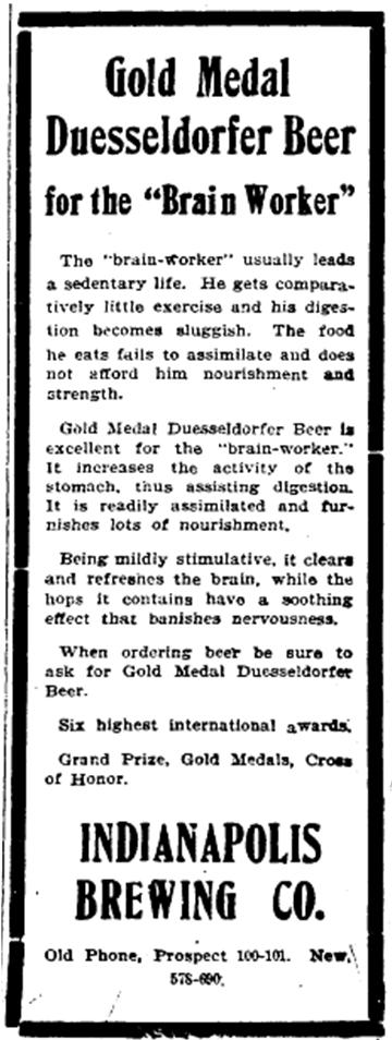 Beer good for Brain Worker