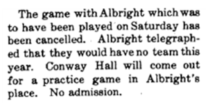 September 18 1908 Albright cancelled