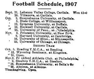 September 27 1907 schedule