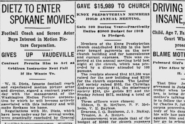 19180110 Dietz Vaudeville Movies