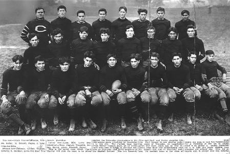 1908 Carlisle squad with caption